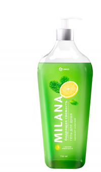 Milana гель для душа - бодрящая свежесть с маслом лемонграсса 750 мл